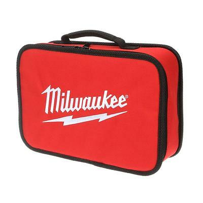 """New Milwaukee M12 Heavy Duty Small 13""""x9""""x3.5"""" Canvas Contractor Tool (Bag Only)"""