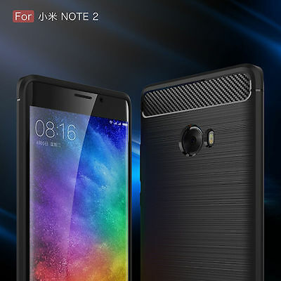 Hot For Xiaomi Mi Note 2 Brushed Drawing Armor Silicone TPU Case Rubber Cover