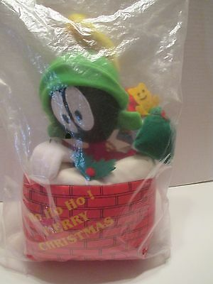 """2002 Holiday Warner Bros. Looney Tunes Christmas """"marvin The Martian"""" Plush Doll"""