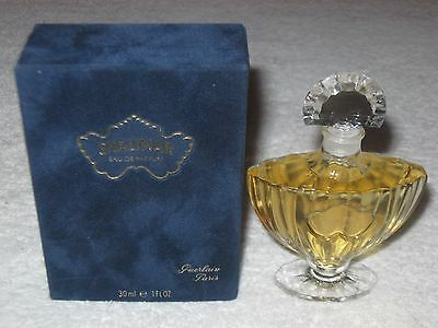 "Guerlain Shalimar Perfume Bottle/Box 1 OZ - 30 ML Full - EDP Unused - 4"" Ht - #3"
