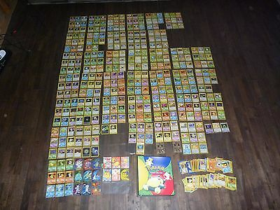 POKEMON Original 1st Gen COMPLETE 4 SETS: BASE JUNGLE FOSSIL ROCKET + PROMO LOOK