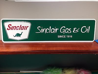 "Sinclair Gas & Oil Vintage Style Metal Sign 6"" x 24"""