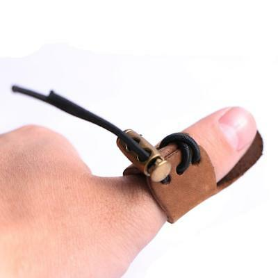 Soft Leather Thumb Ring Archery Finger Protector for Reurve Traditional Bow