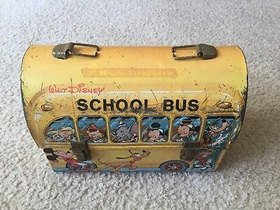 Vintage 1961 Original Aladdin Disney School Bus Lunch Box