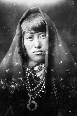 New 5x7 Native American Photo: Acoma Indian Woman, North American Indian - 1905