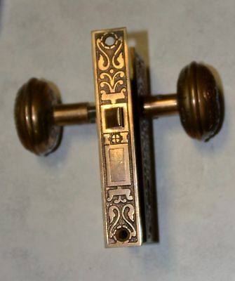 VINTAGE Interior DOOR KNOB HANDLE COMPLETE Kean & Dotty Mfg. Co. Antique