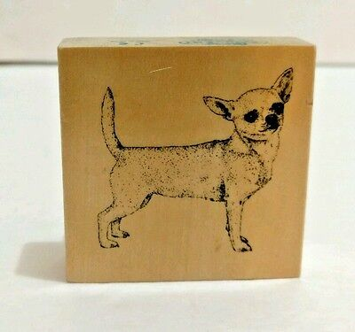 Dog Rubber Stamp Chihuahua Stamp Gallery Lifelike Wood Mount