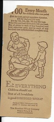 shredded wheat company 1920s 30s children's contest promo e is everthing3 by7