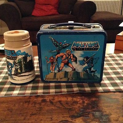Vintage Masters of the Universe Metal Lunchbox & Thermos No Cup Lid