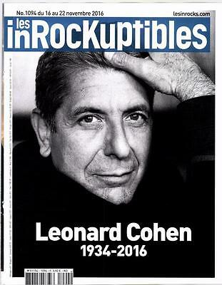 Leonard Cohen Les Inrockuptibles Magazine November 2016 Mag France 21 Pages