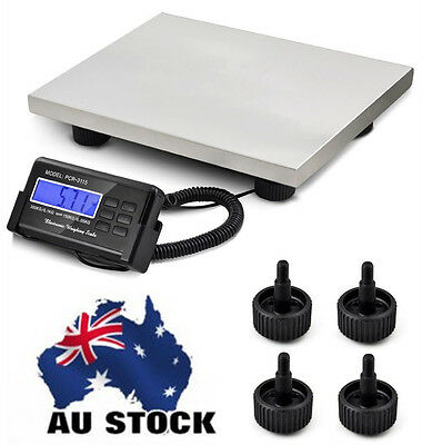 "660LBS Platform Digital Scale LCD Postal Shipping Floor Bench 300KG 15"" x 12"""