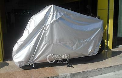 All Silver Outdoor Motorcycle Cover For Harley Davidson Touring All Weather XL
