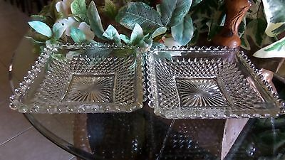 Candlewick Glass Square Dishes