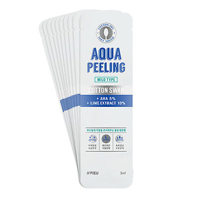 [A'PIEU] Aqua Peeling Cotton Swab Set Mild 3ml *10ea