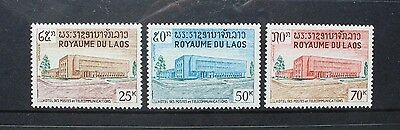 LAOS 1967 New General Post Office Building Set of 3 Mint Never Hinged. SG209/210
