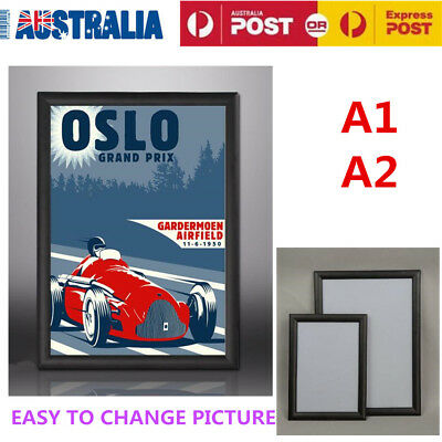 A1 A2 Modern Hang Aluminium Clip Poster Picture Frame Square Picture Holder Deco