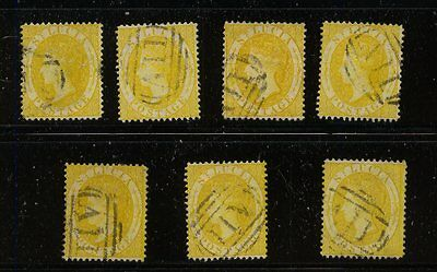 St  Lucia   #12  lot of  7  stamps       MS1112