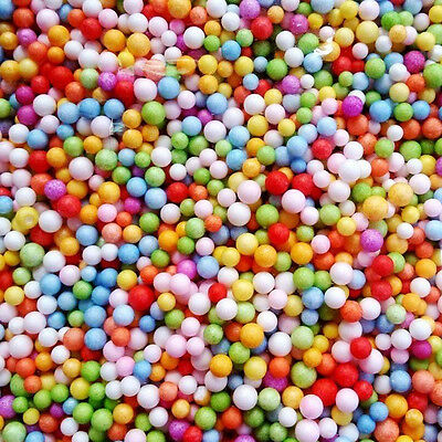 1Bag Assorted Colors Polystyrene Styrofoam Filler Foam Beads Balls DIY Crafts