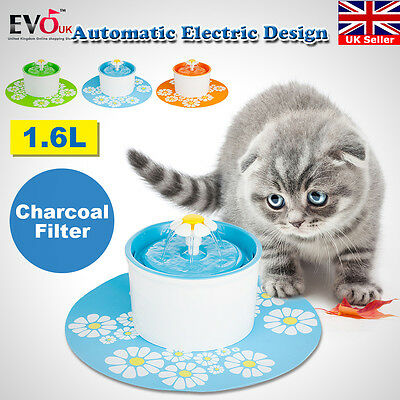 Automatic Electric 1.6 L Pet Water Fountain Dog/Cat Drinking Bowl With Filter