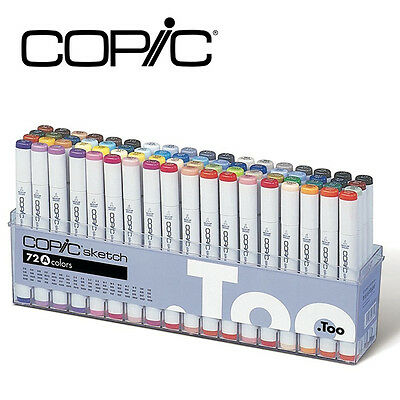 New COPIC Marker 72-Piece Sketch Set A (C72A) + Free Shipping