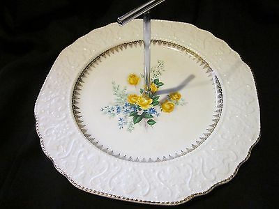 Vintage ,ironstone Cake Plate With Handle By Wood And Sons