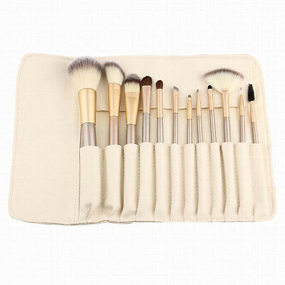Professional PU Leather Travel Cosmetic Makeup Brush Accessories Pouch Bag New