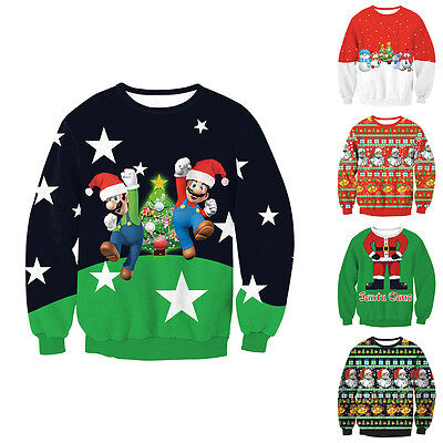 Mens Womens Novelty Christmas Xmas Sweater Retro Vintage Unisex Knitted Jumper