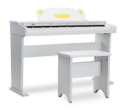 61-Tasten Digital E-Piano Kinder Beginner Home Keyboard Fun Klavier Pedal Weiss
