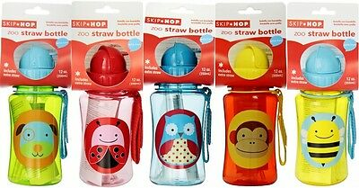 Baby Kid Child Zoo Animals Feeding Drinking Sippy Cup Straw Bottle Nuby Dishes
