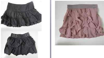 Free P&P Girls Pink Black Tiered Ra Ra Mini skirt from Tammy / Charm  9-16 yrs