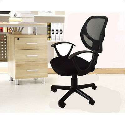 High Back Executive Office Chair Mesh Fabric Computer Desk Task Ergonomic Black