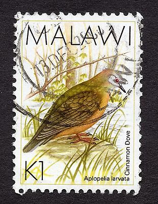1988 Malawi Birds Lemon Dove 1K SG 801 FINE Used R30050