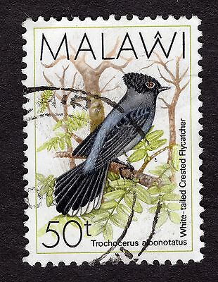 1988 Malawi Birds White tailed crested flycatcher 50T SG 799 FINE Used R30057