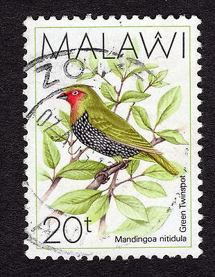 1988 Malawi Birds Green backed twin spot SG 796 FINE Used R30043