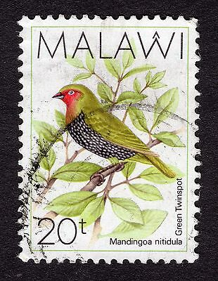 1988 Malawi Birds Green backed twin spot SG 796 FINE Used R30042