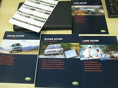 Range Rover  Handbook  Owners Manual 2002-2005  - Service Book New And Full Pack