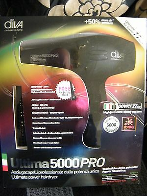 The Diva Professional Styling Ultima 5000 Pro Hairdryer*Black*All In Price£49.99