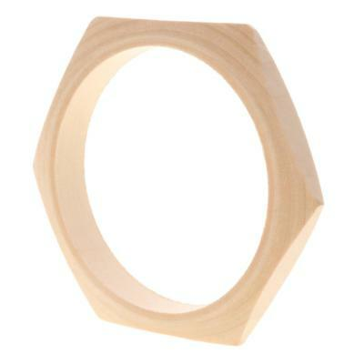 DIY Crafts Geometric Unfinished Narrow Natural Wooden Blank Bracelet Jewelry