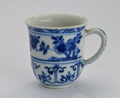 18th C Chinese Blue & White  Porcelain Coffee Cup C1770