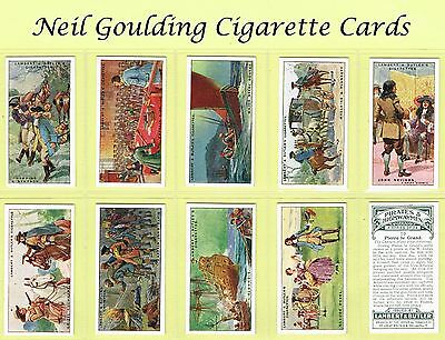 Lambert & Butler - Pirates & Highwaymen 1926 #1 to #25 Cigarette Cards