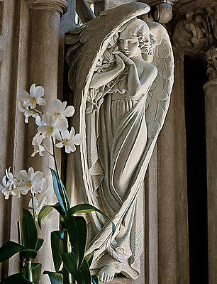 Angel Sculpture Garden Home Wall Mounted Ornament Antique Cathedral Art Decor