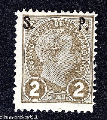 1898 Luxembourg 2c Brown OPTD SP SG O214 MOUNTED MINT R23775