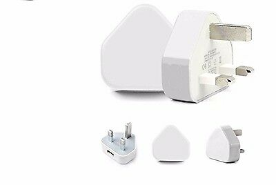 New CE 3 Pin Mains Charger USB Wall Plug For Various Mobile Phones+FreePostage