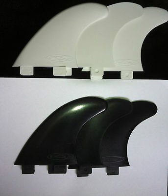 Surfboard FCS Fins G5 Template Set & Single Fin Replacement Black or White surf