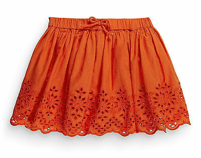 ВNWT NEXT Girl Party Dress • Orange Embroidered Skirt •100% cotton • 3-4 Years