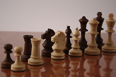 Set of Wooden Chess Pieces - Classic Staunton Pattern -  - 95mm / 3.75inch King