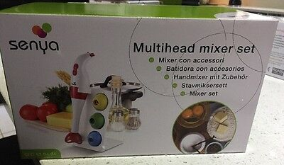 Senya Electric Multi head Hand Held Set Mixer, Brand New Blender