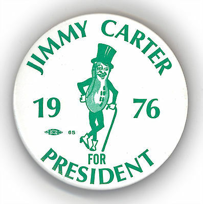 "* Tough  ~ "" JIMMY CARTER FOR PRESIDENT 1976 ""  ~  1976 Campaign Button"