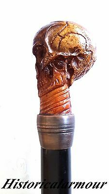 Victorian Skull Head Men's Walking Stick / Cane Beautifull Decorative Gift Item