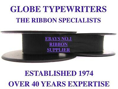 1 x 'HERMES MEDIA 3' *PURPLE* TOP QUALITY *10 METRE* TYPEWRITER RIBBON + EYELETS
